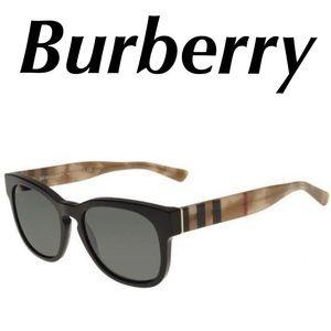 Burberry Sunglasses Check Print Black Women's